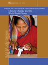 Climate Change and the World Bank Group (eBook): Phase II - The Challenge of Low-Carbon Development
